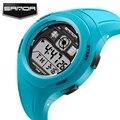 SANDA Children Watches Cute Kid Sport Watches Cartoon Watch for Girls boys Rubber Children's Digital LED waterproof Wristwatches