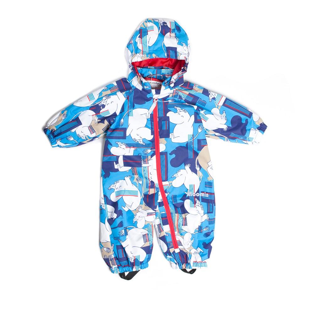 Moomin infant outdoor waterproof   romper   62-74 baby orange   romper   polyester cartoon zipper   romper   long sleeve hooded overall