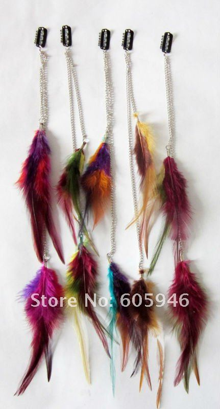 36pcslot Freeshipping Feather Products Long Feather Hair Clip Hair Extension Wedding Feathers Hair Accessory Jewelry Newstyle On Aliexpress