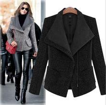 2017 Winter Brand High Qaulity Long Blazers For Women Outerwear Women's Hooded Warm Jacket Female Jacket Woolen Down Lady km20