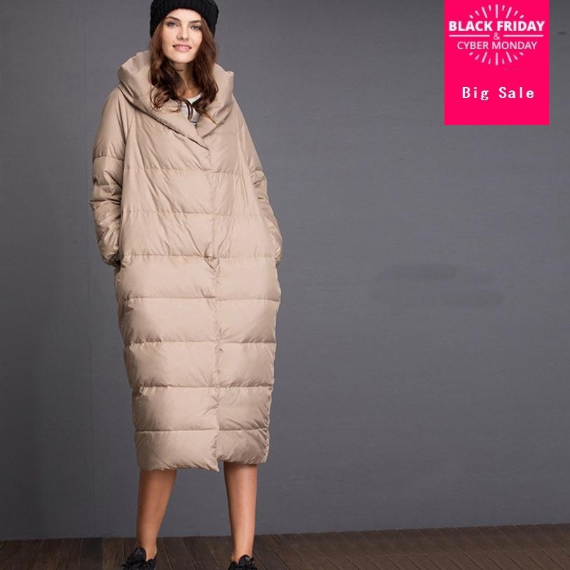 S-5XL плюс размеры 2018 Winte rfashion бренд очень хорошее качество с капюшоном куртка на утином пуху женский длинный толстый теплый пуховик wj1392