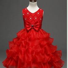 Korean version of the new summer girls dress Children's performance Princess Dress kids Noble evening dresses