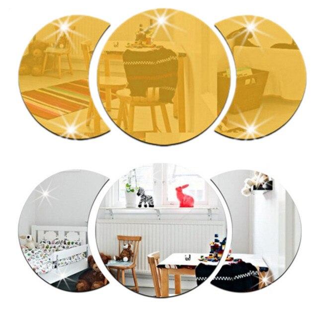 Round Building Border Acrylic Mirror Sticker Wall Art Home DIY ...