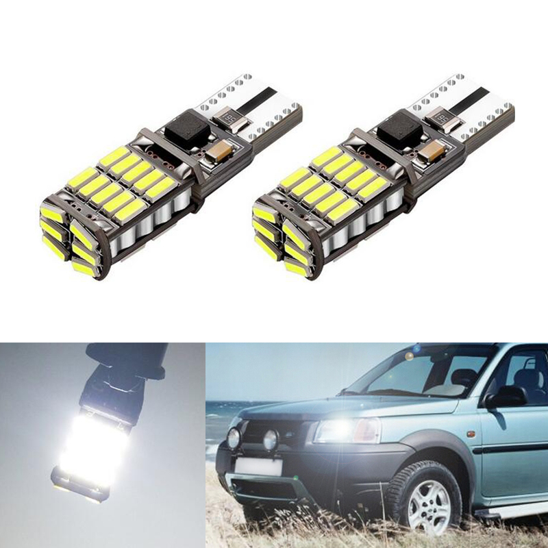 2x Canbus Car Wedge Light W5W T10 LED 4014 SMD Auto Lamp Bulb For Land Rover v8 discovery 4 2 3 x8 freelander 2 defender A8 a9