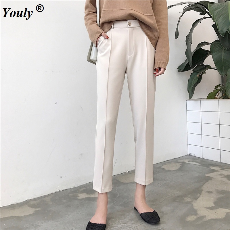 Plus Size 2XL Formal pencil   Pants   Women 2019 Office OL Lady Style Work Wear   Pants   Straight Trousers Female Slim   pants     Capris