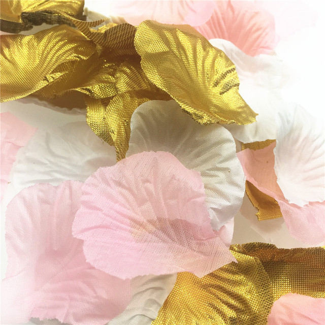 600 Pcs Artificial Silk Flowers Rose Petals Wedding Decoration