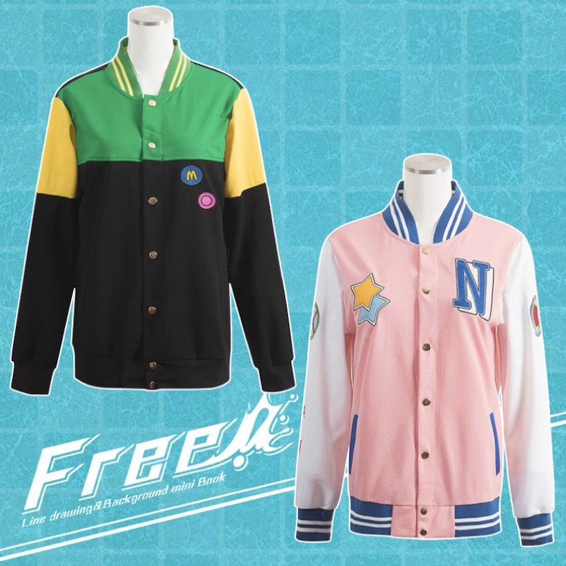 Cute Unicorn Free! Makoto Coat Nagisa Cosplay Costume anime Jacket Unisex High School Uniform unisex cotton clothes mens outfits