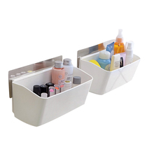 Self-adhesive Wall Mounted Type Big Storage Box Strong Glue kitchen Bathroom Toilet Shelves