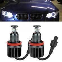 2 шт. Для H8 40 Вт 12 в супер яркие глаза ангела противотуманная фара Светодиодный лампочки подходят для BMW E91 E92 E93 E60 E61 E70 E71