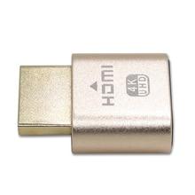スモール偽 VGA 仮想ロック HDMI コネクタ 1920 × 1080 4 18K コンピュータアクセサリーなしドライブヘッドレスディスプレイエミュレータダミープラグ