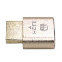 Маленькая поддельная VGA Виртуальная Блокировка HDMI разъем 1920x1080 4K Компьютерные аксессуары без привода Безголовый эмулятор отображения пустышка