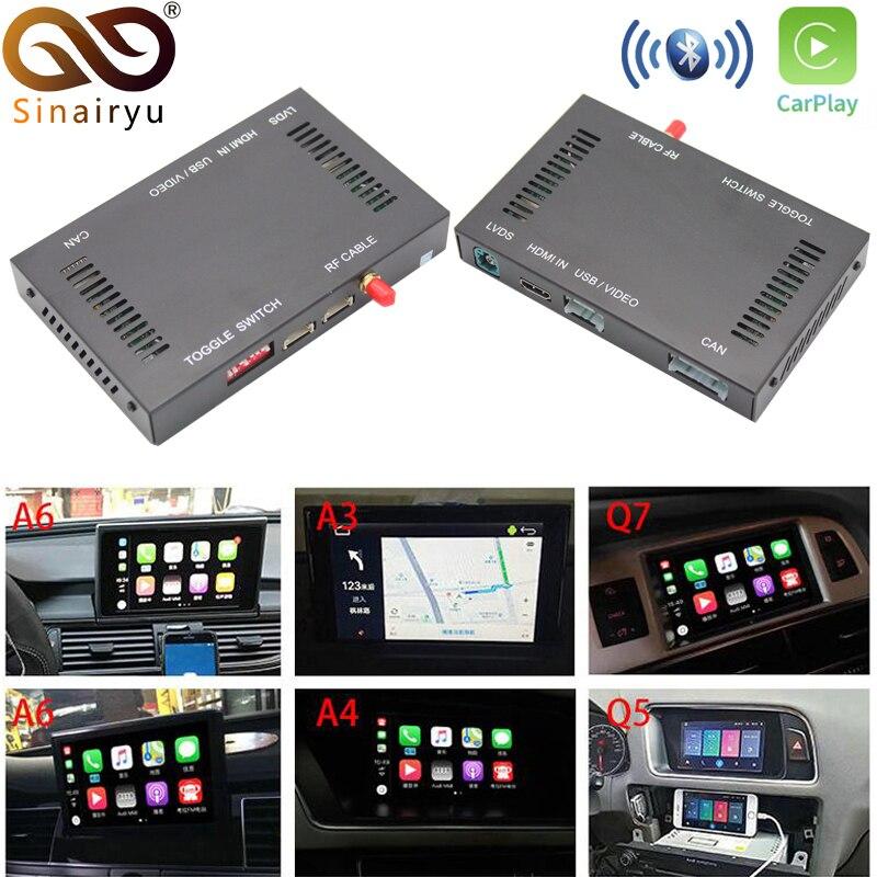 Sinairyu marché secondaire OEM sans fil Apple CarPlay A3 A4 A5 A6 A7 A8 Q3 Q5 Q7 MMI Solution rénovation avec caméra inversée pour Audi