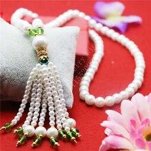 L9132 8mm Shell Collar de cristal suéter cadena, Frecuente Ropa de moda y Accesorios de Las Borlas del Encanto Colgante de joyería Al Por Mayor