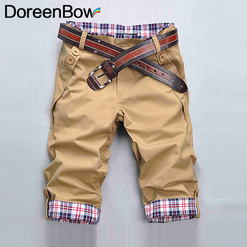 DoreenBow Polyester Fashion Summer Style Hot Sale Leisure Shorts Mens Breathable High Quality Sweing Buttons Shorts, 1 PC