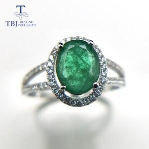 Image 2 - TBJ, 100% Emerald แหวน 925 เงินสเตอร์ลิงของขวัญกล่อง,elegant dianna แหวนมรกตธรรมชาติอัญมณีแหวน