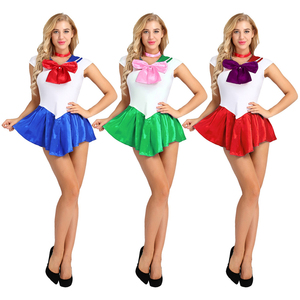 Image 2 - High Quality Japan Sailor Moon Cosplay Costume Moon Dress For Adult Fancy Halloween Fancy Sexy Carnival Costume Dress