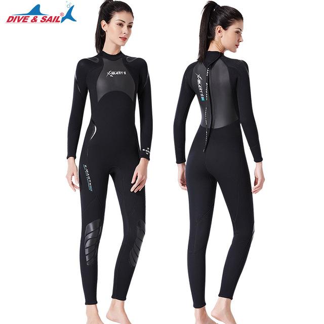 New Men/women 3mm Diving  Neoprene Wetsuit for Swimming Surf Men Scuba Equipment Split Suits