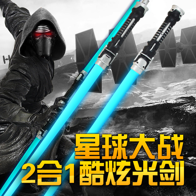 2pcs/set Star Wars Sound Lightsaber Flash Sword Props PVC Collection Model Anime Hobbies Action Toys For Children Christmas
