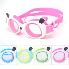527a539ac Crianças Panda Dos Desenhos Animados de Natação Óculos Ajustáveis Óculos de Natação  Impermeável Anti-nevoeiro
