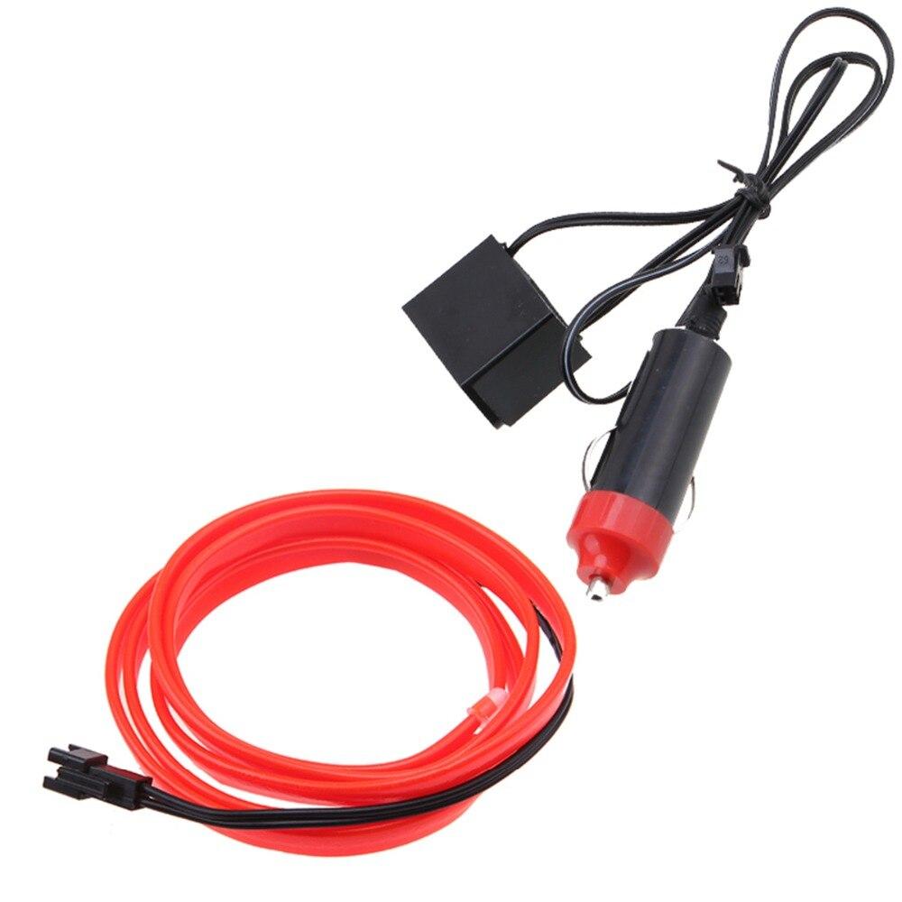 POSSBAY 5 sets 1M/2M/3M/4M/5M EL Wire Neon Glow Light Strip + 12V ...