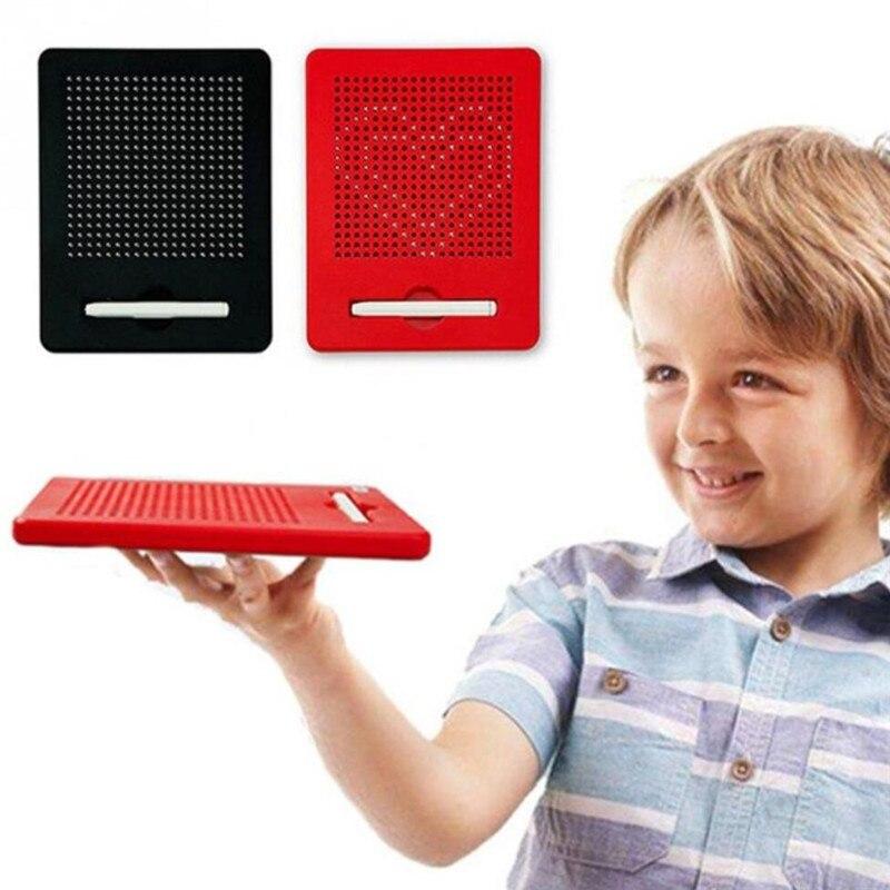 3d portátil placa de desenho magnético esboço almofada tablet com ímã caneta stylus brinquedos educativos para crianças engraçado brinquedo das crianças