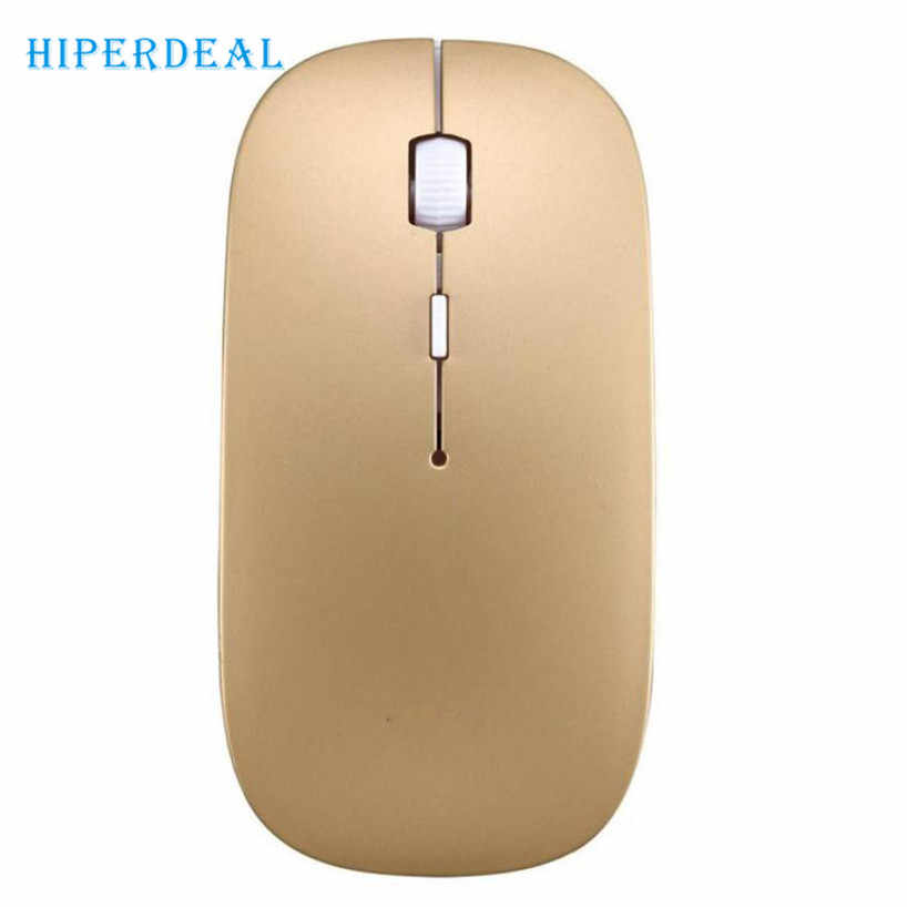 Hiperdeal Hot 2400 Dpi 4 Tombol Optik USB Wireless Gaming Mouse Mouse untuk PC Laptop Wireless Gaming Mouse untuk Notebook