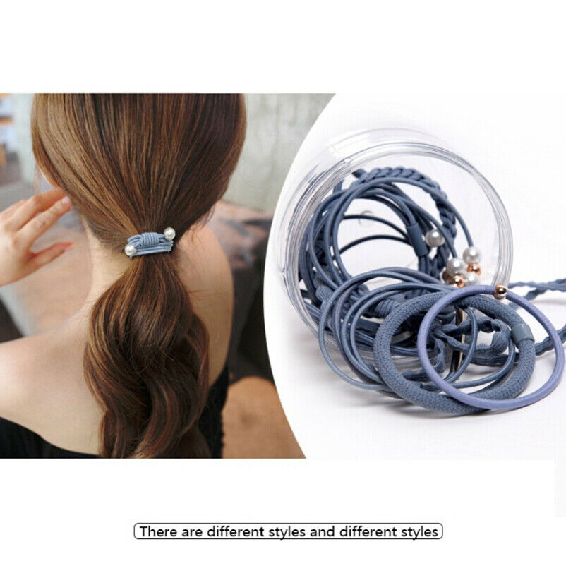 12pcs Women Hair Ties Hair Band Rope Ponytail Holder Hairbands Elastic Rubber