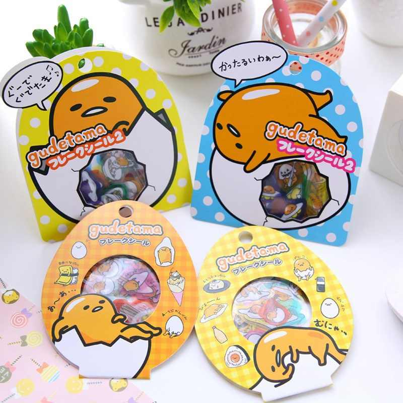 Japanese Catoon Lazy Egg Stickers Transparent PVC Cute Cartoon Sticker Hand Account Classic Toys Car Mobile Phone Stickers Gifts