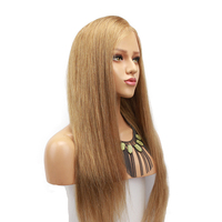 Eseewigs Sliky Straight Human Hair Blonde Lace Front Wigs Side Part Baby Hair #18 Brazilian Remy Human Hair Lace Wig For Women