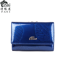 Купить с кэшбэком FANI 2018 New Vintage Small Women Wallets Female Genuine Leather Women Wallet Design With Coin Purse Pockets Short Wallets