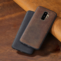 Genuine leather Phone case For Samsung S7 S8 S9 Plus Note 8 9 case Crazy Horse Skin Cover For A3 A5 A7 A8 J5 J7 2017 cases