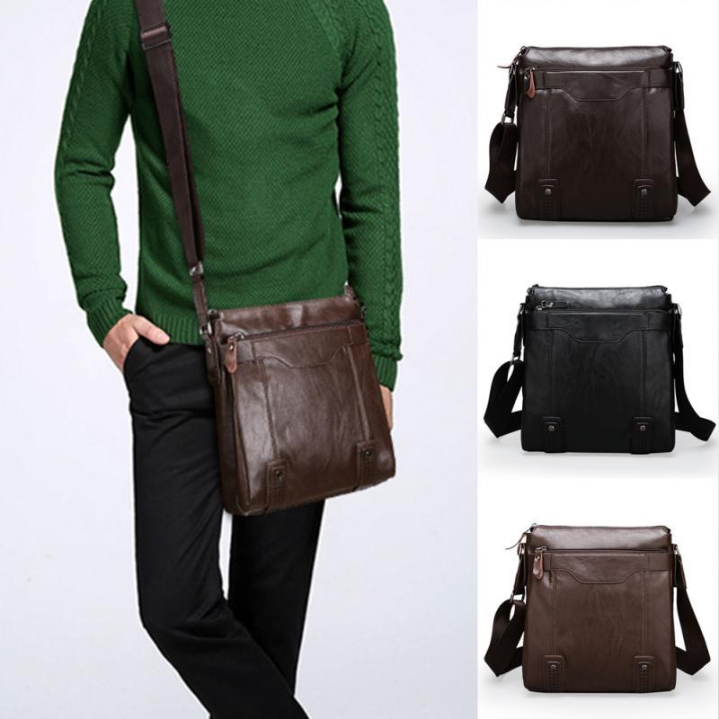 Aliexpress.com : Buy Fashion PU Leather Men's Messenger Bags Man ...