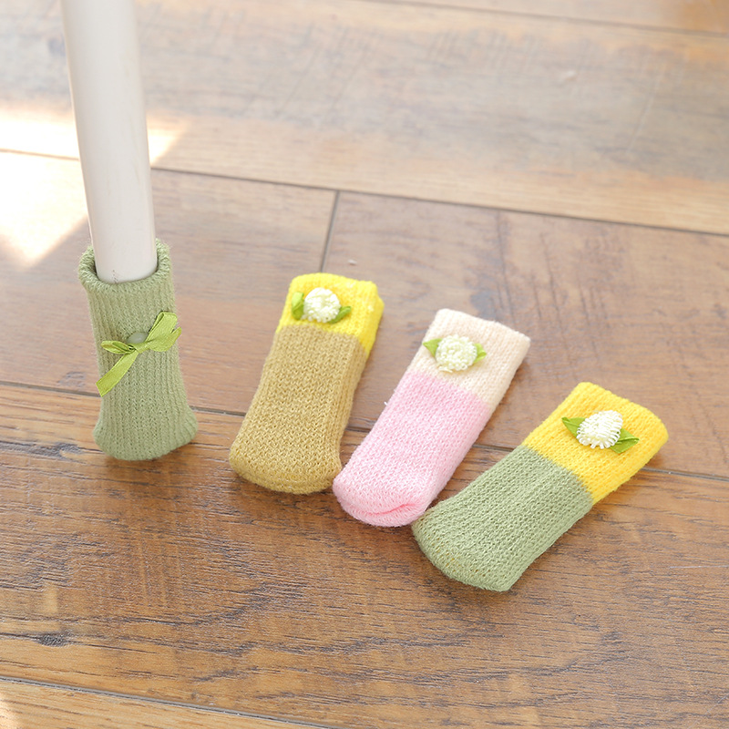 Lovely wool knitting DIY Furniture Leg Pad Protector Feet Rug Felt Pads Anti Slip Mat Bumper Damper For Chair Table HardwareLovely wool knitting DIY Furniture Leg Pad Protector Feet Rug Felt Pads Anti Slip Mat Bumper Damper For Chair Table Hardware