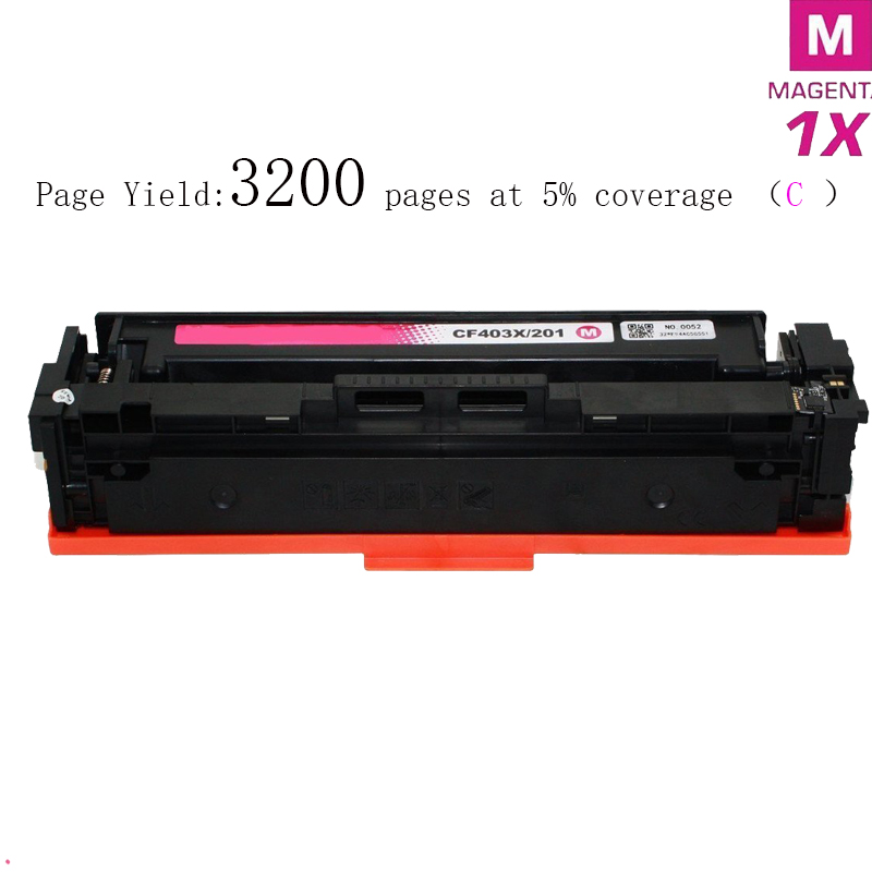 hisaint Compatible Toner Cartridge Magenta CF403X for HP201X High Yield for  HP Color LaserJet Pro M252dw ( Magenta 395f8ae9a7880
