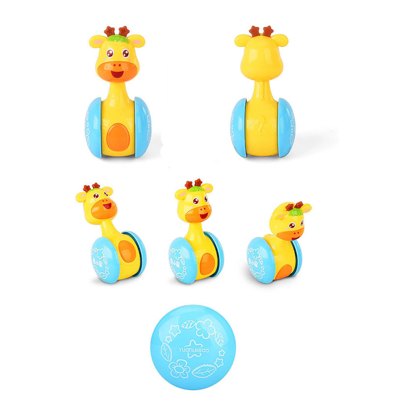 0 12 Months Baby Rattles Tumbler Doll Baby Toys Sweet Bell music Roly poly Learning Education Toys Gifts Baby Bell Baby Toys in Baby Rattles Mobiles from Toys Hobbies