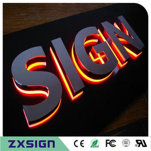 Lighted Letters Led-Backlit-Sign Signages Outdoor-Back Factory-Outlet Stainless-Steel