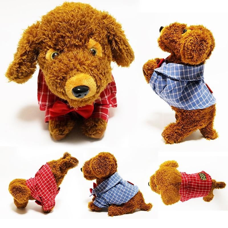 Chiot interactif en peluche animé Animal de compagnie chien électronique mignon Robot chien bébé jouets en peluche peluche jouet bébé enfants fille jouets