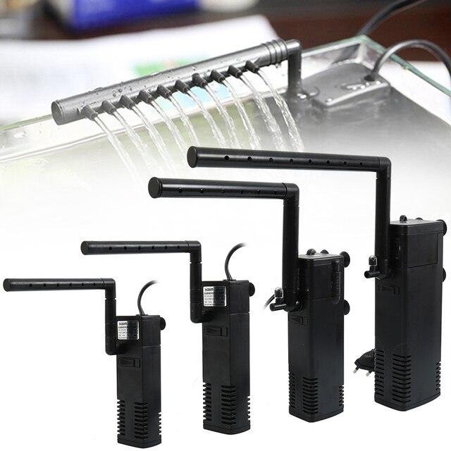 Аквариум погружной фильтр внутренний фильтр для аквариума спрей потока биологический плюс мощность насос 3 Вт/4 Вт/8 Вт