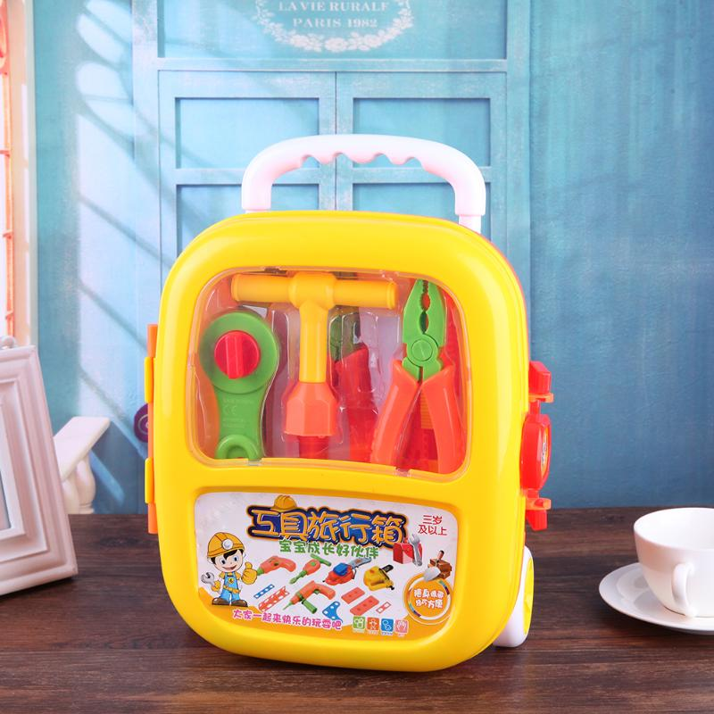 Repair Tools Toy 18pcs/set Children Builders Plastic tool Set Kids Pretend Play Classic Toys Educational Baby Early Learning Toy 81pcs set children plastic building blocks toy bricks diy assembling classic toys early educational learning toys gift for kids