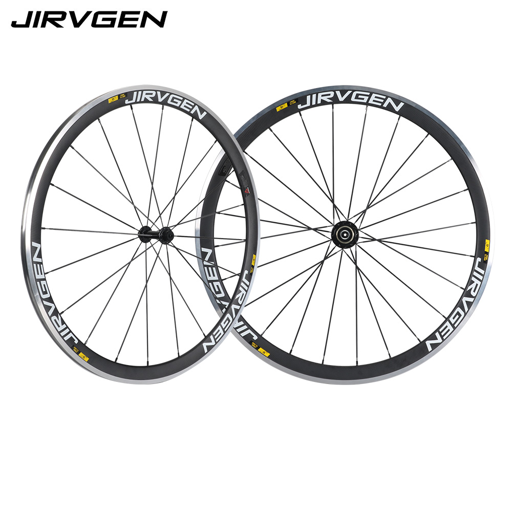 700c Alloy brake carbon road bike wheels 38mm clincher 3k matte carbon wheelset For Long downhill riding