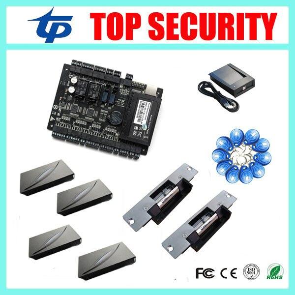 ZK TECO door access control system C3-200 2 doors access control board smart card access controller with card readers and lock