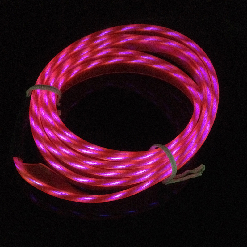 2M Flexible Neon Light Glow Chasing EL Wire Rope Tape Cable Strip ...