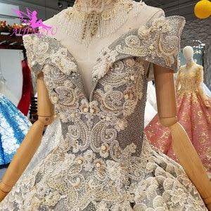 Image 5 - Aijingyu rendas vestidos de casamento vestidos china vestidos branco ocidental pérola vestido 2021 2020 longo nupcial robe