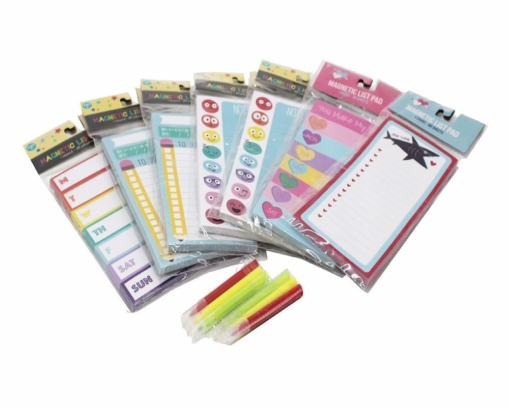1 पीसीएस चुंबकीय प्यारा - नोटबुक और लेखन पैड