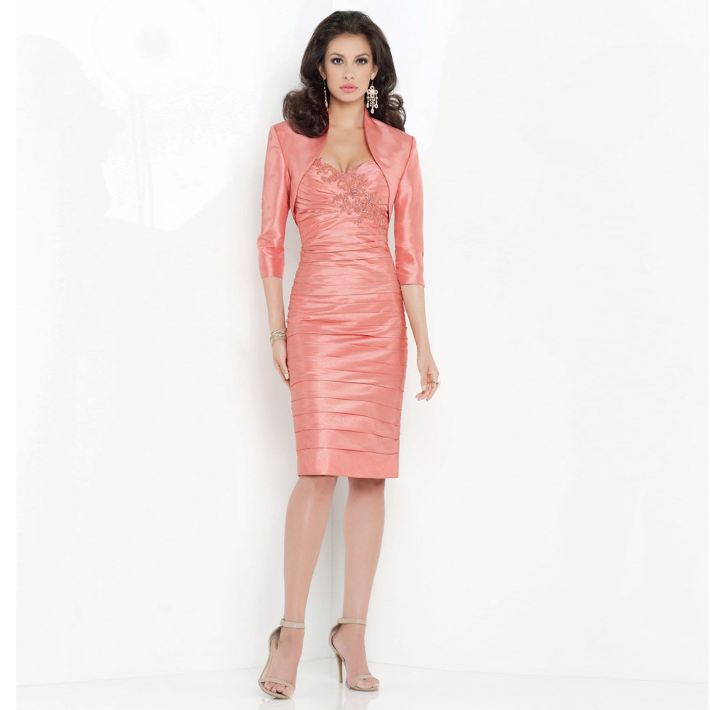 2017 Hot Sale Pink Pleated Cheap Mother Of The Bride