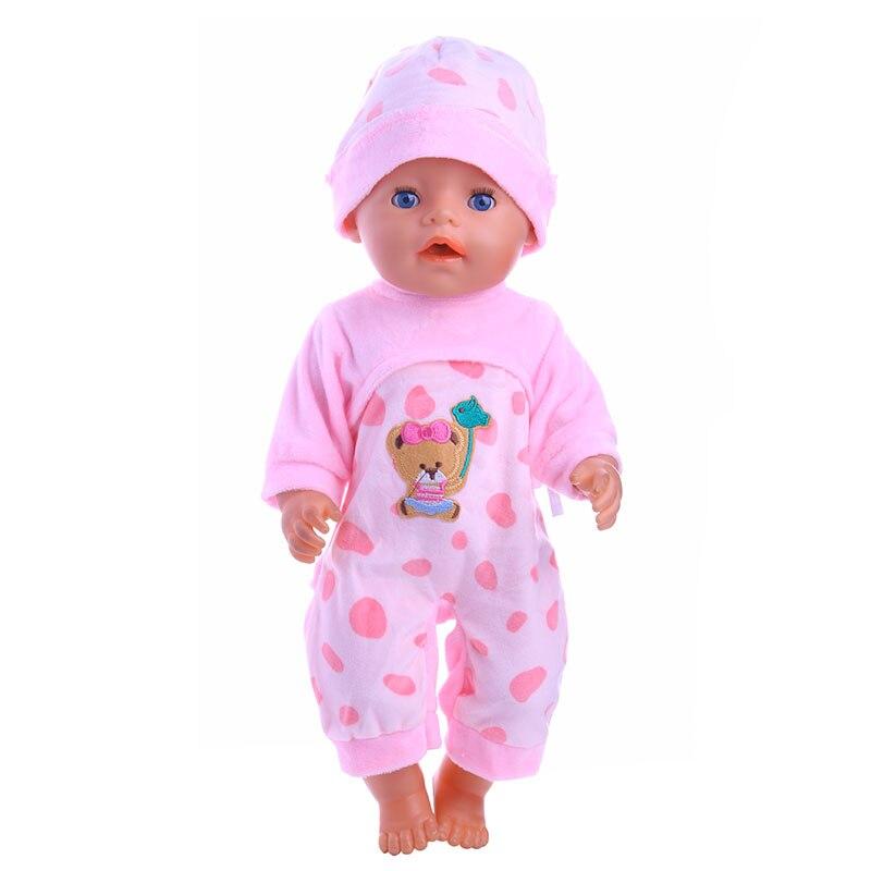 12704cb4745b0 Chanceux poupée de mode nouvelles poupées onesies + chapeaux fit 43 cm bébé  naissance poupée accessoires De Noël cadeaux pour vous à choisir de