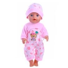Luckdoll Cubs Siamese Klänning + Hatt För 43cm Babyfödd Zapf Doll, Barnens Bästa Holiday Gift
