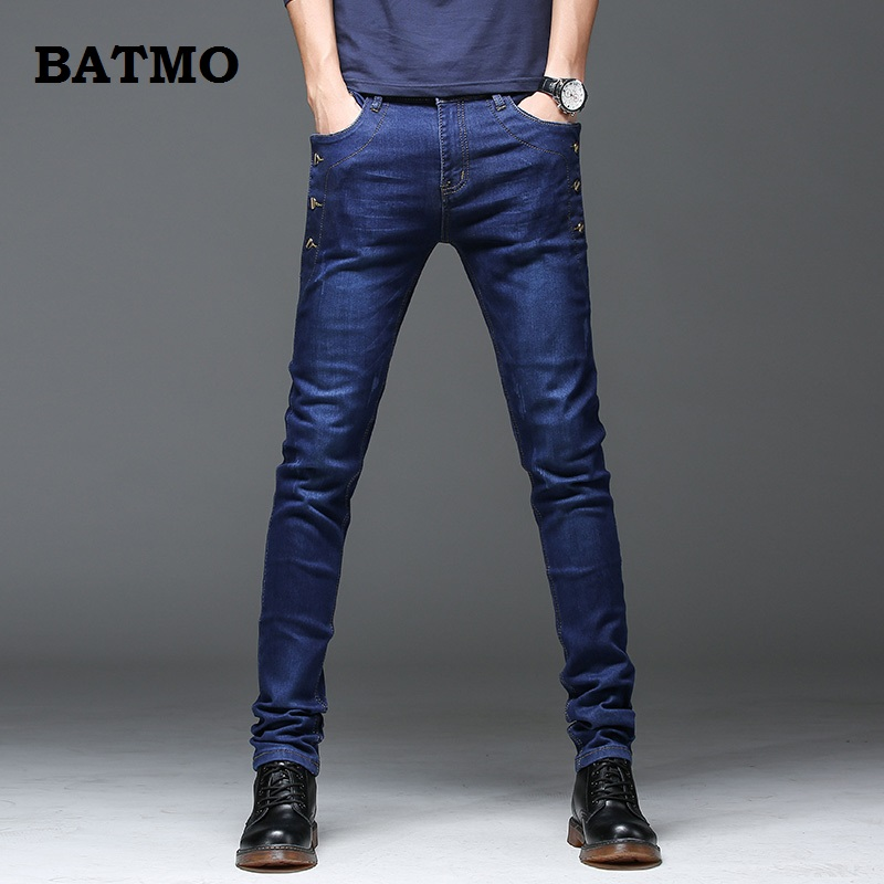 Batmo 2019 New Arrival Jeans Men Fashion Elasticity Men's Jeans High Quality Comfortable Slim Male Cotton Jeans Pants,27-36.