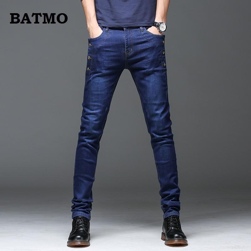 Batmo 2019 New Arrival Jeans Men Fashion Elasticity Men's Jeans High Quality Comfortable Slim Male Cotton Jeans Pants,27-36.