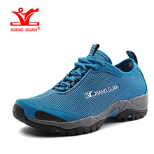 XIANGGUAN Woman Beach Aqua Shoes Women Trekking Trainers Blue Summer Water Sports Boating Wading Shoe Outdoor Walking Sneakers